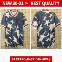 1994 الولايات المتحدة الأمريكية الرجعية بعيدا Soccer Jersey 94 Lalas Jones Sorber Balboa Perez خمر الكلاسيكية القديمة الفانيلة قمصان كرة القدم