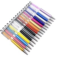 بلينغ كريستال حبر جاف القلم الإبداعي الطيار القلم كليب تاتش القلم لكتابة القرطاسية مكتب المدرسة طالب هدية الإبداعية 24 اللون