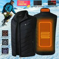 الرجال النساء كهربائية حرارية سترة بلا أكمام معطف صدرية USB الحرارية الملابس الشتوية التدفئة دثار لباس خارجي ذكر ساخنة الصدرية