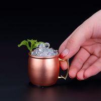 Mode Moskva Mini Glas 98ml Rostfritt Stål Cocktail Kopp Moskva Mule Cup Vinglasögon Öl Ancient Koppar Cup T2i5054-1