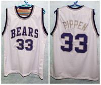 # 33 Scottie Pippen Hamburg ursos High School Retro clássico jersey mens costura número personalizado e nome camisetas