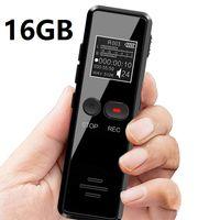 Gravador de voz digital profissional com tela LCD 8GB 16GB Voz Digital Activated Recorder Detafone com MP3 Player Redução de ruído