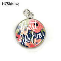 2019 Beauty Pendant Best Life Ever Style Glass Cabochon Stai...