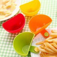 Cuenco de inmersión de cocina para salsa de ensalada surtida ketchup atasco sabor de azúcar especias dips clip tazas platos platillos accesorios para el hogar gadget DBC BH2782