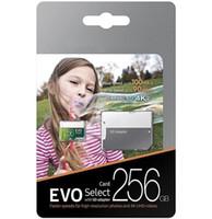 2019 베스트 셀러 녹색 EVO 선택 U3 클래스 10 256GB 64GB 32GB 128GB 플래시 TF 카드 메모리 카드 C10 어댑터 프로 플러스 클래스 10 100MB / s