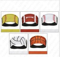 عرق الأزياء البيسبول العصابة البيسبول التعادل رباطات كرة السلة العمامة الرياضة جفاف سريع الرجال والنساء العصابة غطاء الرأس بيع D52216