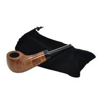 Drewniane rury do palenia Ręcznie Drewniane Tabaczna Rura do palenia z akcesoriami do palenia Kolor Losowy prezent torba opakowania