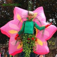 Outdoor Parade prestazioni 2m Wideth gonfiabile Flowes costume con il ventilatore e LED Strisce Per Parade Chiedi