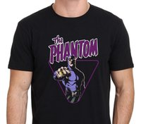 T-shirt nera uomo fantasma Action Hero di Phantom Ghost Taglia: S - Xxl