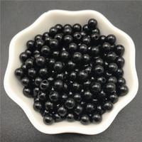 4 mm 6 mm 8 mm 10 mm Perlas de imitación negras Perlas de acrílico Perla redonda espaciador suelta perlas para la joyería que hace