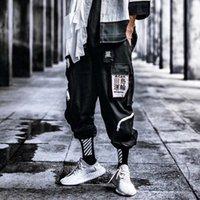 Мужские брюки хип-хоп Мужчины 2021 плюс размер свободная уличная одежда мужская повседневные пансионные мальчики боковые полоса дизайн пробежки брюки брюки