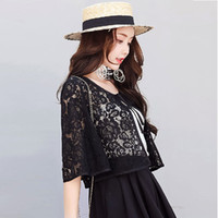 2019 Summer Organza Thin Short Jacket Women Embroidery Lace ...