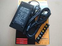 Универсальный 96W 4.0A DC портативный ноутбук зарядное устройство адаптер питания 12V / 16V / 20V / 24V с США ЕС AU Великобритания затыкает 50pcs Оптовая