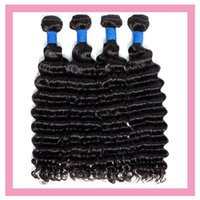 Peruvian Virgin Human Hair Extensions 10-28inch 3 Bundles Deep Wave 4 Pieces One Set Hair Products Wefts Curly Hair Extensions