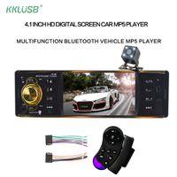 4019b Autoradio 4.1 '' Zoll 12v 1 Din Auto Audio Stereo Bluetooth 2.0 USB Aux FM Radio Tuner Unterstützung Rückfahrkamera Autoradio