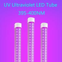 UV LED Blacklight Integra T8 V tubolari UVA LED 395-400nm 365nm 5ft 4ft 1ft tubo luci Blub della lampada ultravioletta disinfezione Germe