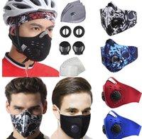 STOCK фильтр США Велоспорт маска с респираторов Valve РМ2,5 Mouth Маска Анти пыли Защитные Открытый Открытый спорт Мотоцикл Велосипед