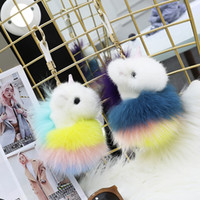 Pony Fur Ciondolo [Colorful Unicorn] pelliccia di visone
