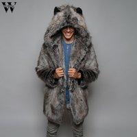 Chaqueta de cuaderna Moda para hombre Cálido abrigo grueso chaqueta de piel Faux Fur Parka Outwear Cardigan OutCoat Men's Coat 20190817