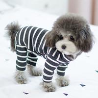 Vêtements de chien pour petits chiens Jumpsuit à rayures d'été pour Chihuahua Bouledogue Français Bulldog Soft Pyjamas pour chiens Costume de chat pour animaux de compagnie XXL Y200330