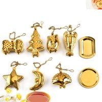 9 أنماط teaware الشاي الذهب مصفاة نجمة القلب 304 الفولاذ المقاوم للصدأ مصفاة الشاي الشاي المرشحات الإبداعية كيتن أداة T2I5515-1