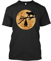 Halloween Moon The Cat And Bat Stylisches T- Shirt Men Women ...
