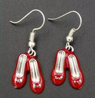 뜨거운 여성이 귀걸이 선물을 빈티지 에나멜은 유행 보석 붉은 발레를 신발-매력 Dangle 귀걸이 선물한 여자 641