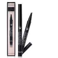 New 4 de garfo lápis líquido Micro sobrancelha preta marrom Eye brow caneta 5 cores com duração de 24-Hours Maquiagem Waterproof Novas