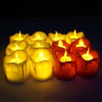 LED 무 화염 캔들 티 라이트 기둥 양초 설정 tealight 배터리 촛불 램프 결혼식 생일 파티 크리스마스 장식 VT1722를 작동