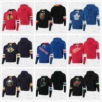 2020 Akrabalık Kazak Bay Bayan Çocuk Sabres Köpekbalıkları Kanatlar Blackhawks'ın Devils Kings Predators Mavi Ceket Rangers Başkentleri NHL Kapüşonlular Formalar