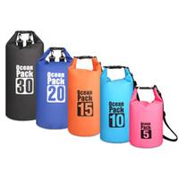 Seyahat Su geçirmez Kepçe Moda Plajı Sırt Çantası 2L-30L Yaz% 50 Unisex Kuru Sürüklenen Çanta PVC Açık Kuru Depolama Sport Açık Paketleri