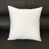 18x18 인치 자연 캔버스 베개 케이스 일반 흰색면 빈 베개 커버 빈 홈 장식 블랙 쿠션 커버 개인 인쇄