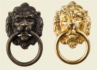 Möbel 66 * 40mm Griffe Beast für Lion Head antike Legierung Griff Schrank Fach-Tür-Pull Retro Dekoration 1PCS Mit Schraube