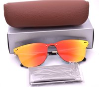 High Quality Sunglasses 54mm 50mm color Mirror Lens Metel Fr...