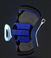 Топ Фитнес-тренажеры Защитное снаряжение Оборудование вязаная защита колена Силиконовая пружинная защита от колена Медицинское колено на колене езда Kneepad спорт