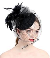 Elegante Fascinator Hüte für Frauen-Partei-Hochzeit Feder 2019 Günstige Hochzeit Zubehör Hüte Günstige Auf Lager