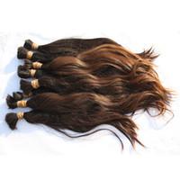 DHL FEDEX GRATUIT Sans tour Virgin Remy Remy Virgin Sans Weft Hair Couleur Naturelle 12-26 pouces 300g Lot de Temple Indian brut