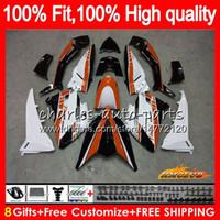 Впрыск для YAMAHA TMAX XP MAX 500 TMAX-500 MAX-500 83HC108 оранжевый белый T-MAX500 T MAX500 12 13 14 15 TMAX500 2012 2013 2014 2015 обтекатель