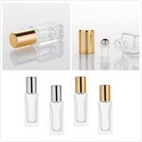 6ML / 9ML زجاجة الزجاج الزجاجي الضروري زجاجات العطور متجمد مع لفة على زجاجات زجاجات مستحضرات التجميل للسفر