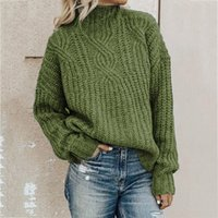 Turtleneck Woman Sweater Pullovers Knit Solid 0- Neck Autumn ...