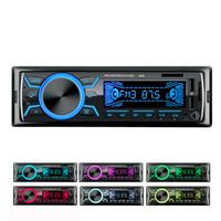 Venta caliente 12V Coche Reproductor de MP3 Radio Estéreo 1 DIN DUAL USB Pantalla digital Música Bluetooth AUX Audio FM TF Tarjeta con control remoto Player 5
