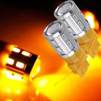 2ST LED-Lampen 3056 3156 3057 3157 p27 / 7W T25 LED 12SMD 5730 Für Auto Hinten Bremsleuchten Blinker Rückleuchten - Gelb / Gelb 12V