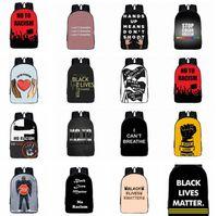 Ich kann nicht Rucksack George Floyd Tasche Männer Reise-Notebook-Taschen Schule Bookbag schwarz Leben egal Rucksack LJJK2182 atmen