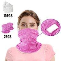 Protecção exterior Face Face coberta, 1 Pcs Tampa polivalente Do Pescoço, Lenços de Cachecol Lenços de lenços com PM2. 5 filtros anti-poeiras para O