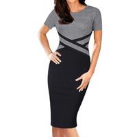 Vestidos casuais vfemage mulheres elegante elegante colorblock contraste cor retalhos desgaste para trabalhar vestidos festa de negócios escritório vestido bodycon 1