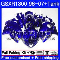 Hayabusa für Suzuki GSXR1300 96 97 98 99 00 01 07 Kit 333HM.165 GSXR 1300 GSX-R1300 1996 1997 1998 1999 2000 2001 2007 Verkleidung glänzend Blau