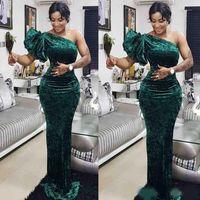 Элегантный зеленый MermaidMother плечо невесты Платья шифон длиной до пола на заказ Южно-Африканской 2020 Пром платье Vestido де Фесто