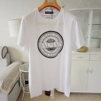 Balmain Stylist T Shirts Balmain Paris Coins Black White Men...