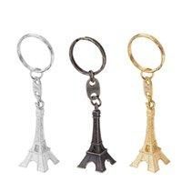 Mode Vintage Tour Eiffel Keychain Creative Souvenirs Tour Pendentif Porte-clés Cadeaux Rétro classique Décoration TTA672