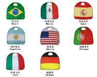 27 inç 2018 Dünya Kupası Ulusal Bayrak Saten Afiş Bayraklar Pelerin Futbol Takımı Kostüm Pelerin ABD İtalya Almanya Bayrağı Pelerin Giyim Çocuklar için